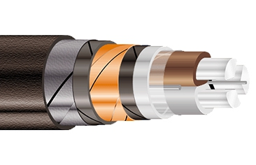 Силовые кабели с пластмассовой изоляцией на напряжение от 1 до 6 кВ